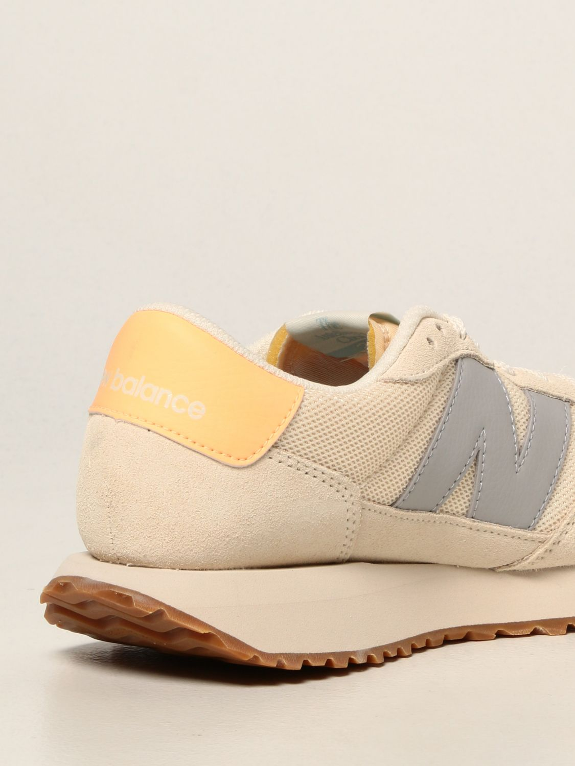 Sneakers New Balance: 237 suede and mesh trainers with big n yellow cream 3