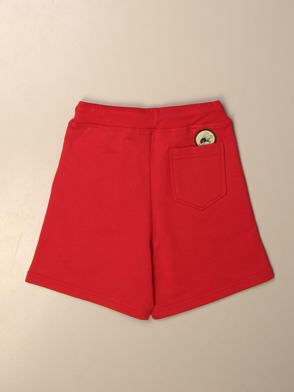 Pantaloncino Dsquared2 Junior: Bermuda jogging Dsquared2 Junior con patches rosso 2