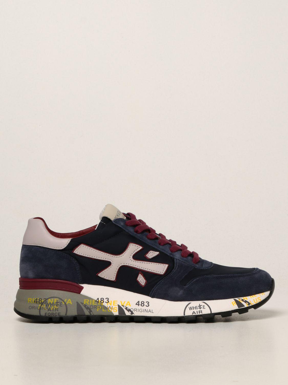 Sneakers Premiata: Sneakers Mick Premiata in nylon e camoscio blue 1