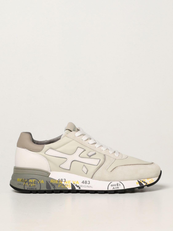 Sneakers Premiata: Sneakers Mick Premiata in nylon e camoscio bianco 1