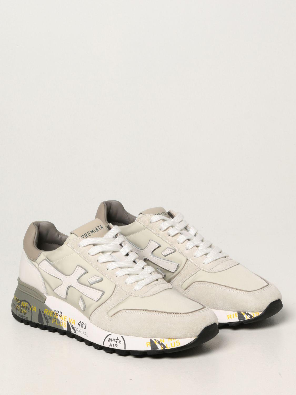 Sneakers Premiata: Sneakers Mick Premiata in nylon e camoscio bianco 2