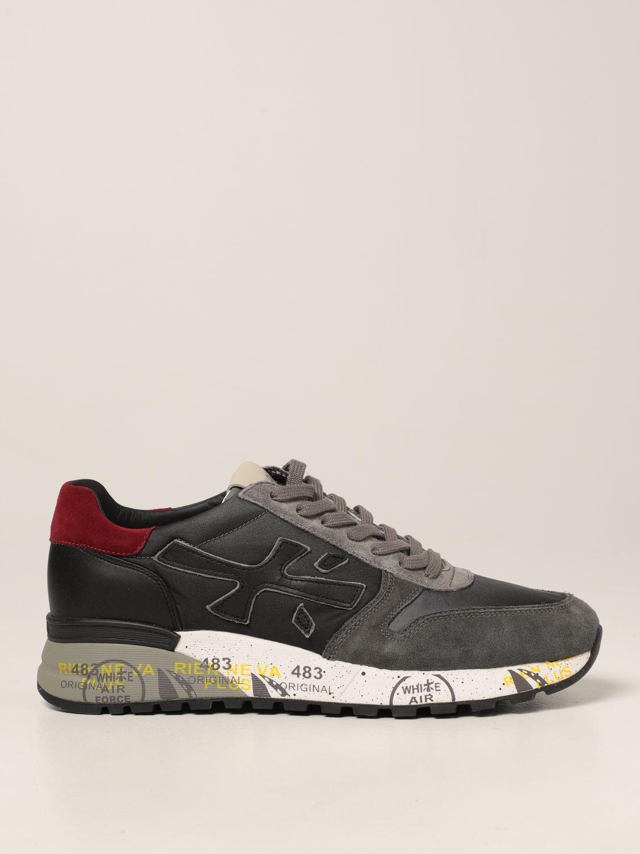 Sneakers Premiata: Sneakers Mick Premiata in nylon degradè e camoscio grigio 1