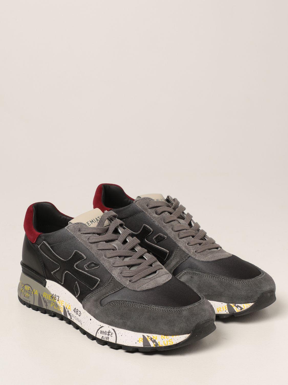 Sneakers Premiata: Sneakers Mick Premiata in nylon degradè e camoscio grigio 2