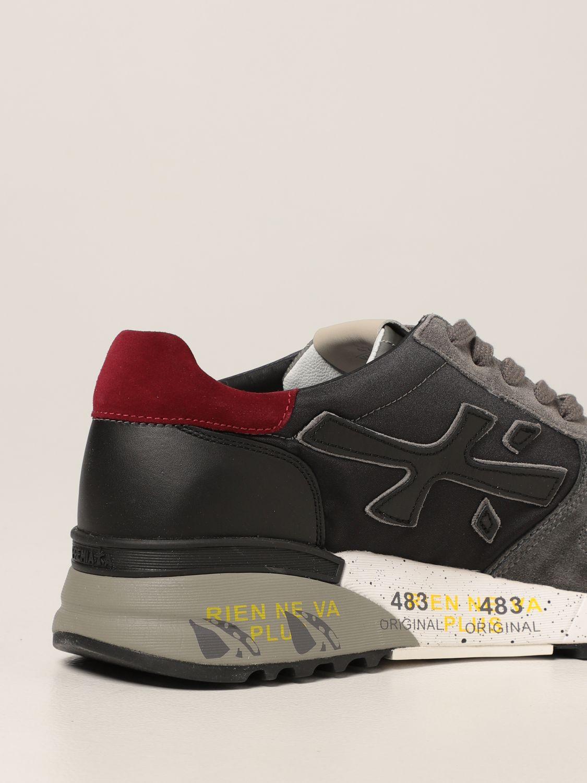 Sneakers Premiata: Sneakers Mick Premiata in nylon degradè e camoscio grigio 3