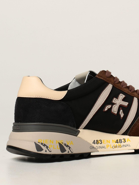 Sneakers Premiata: Sneakers Lander Premiata in nylon e camoscio nero 3