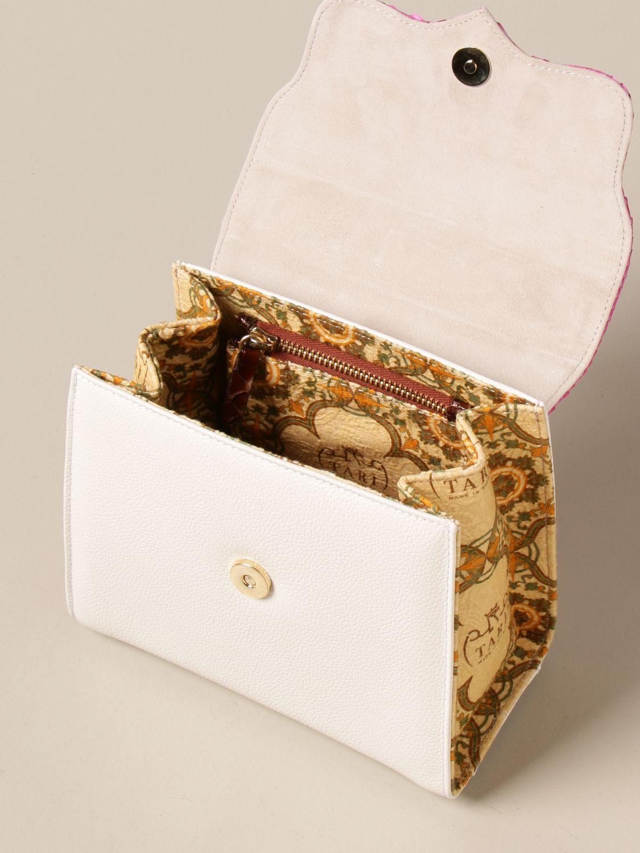 Borsa mini Tari' Rural Design: Borsa a tracolla Mini Fucsia Tarì Rural Design in pelle di pitone fuxia 4