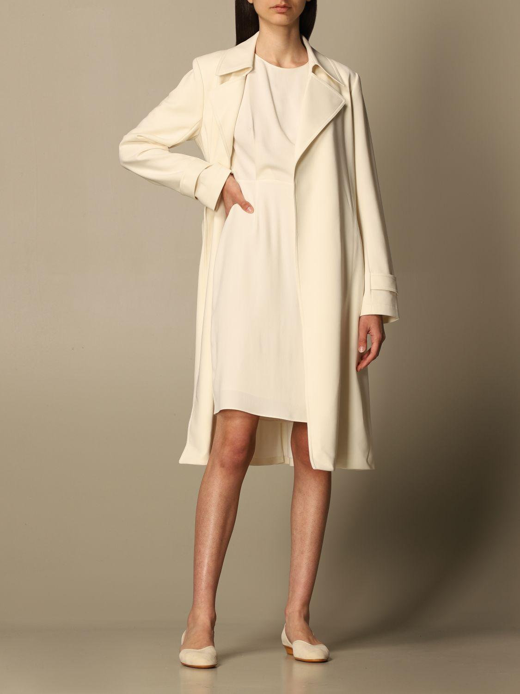 Coat Theory: Coat women Theory yellow cream 2