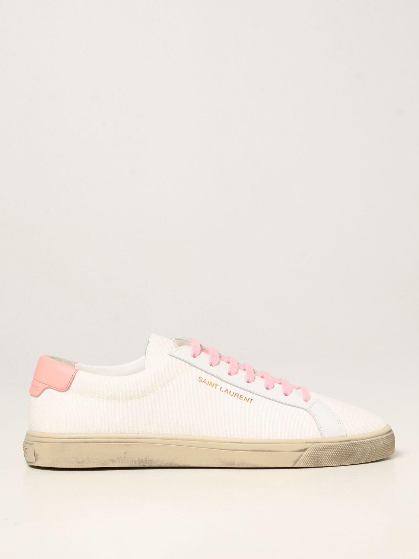 Sneakers Saint Laurent: Sneakers Andy Saint Laurent in tela bianco 1