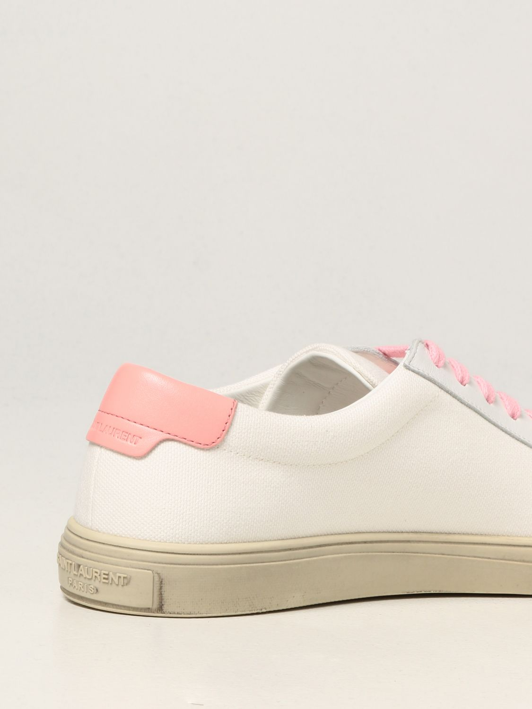 Sneakers Saint Laurent: Sneakers Andy Saint Laurent in tela bianco 3