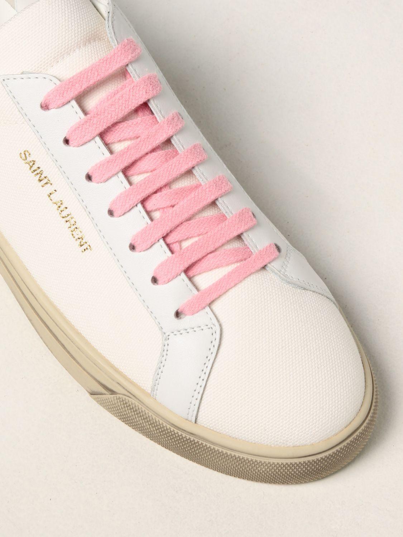 Sneakers Saint Laurent: Sneakers Andy Saint Laurent in tela bianco 4