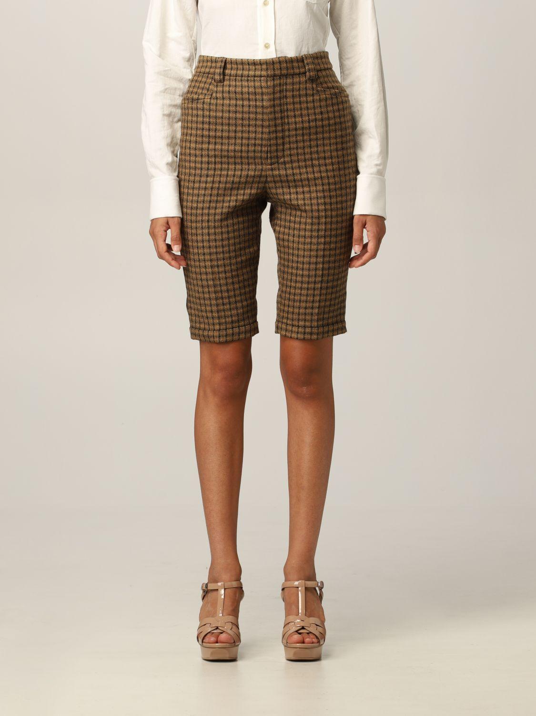Pantaloncino Saint Laurent: Pantaloncino Saint Laurent in lana cammello 1