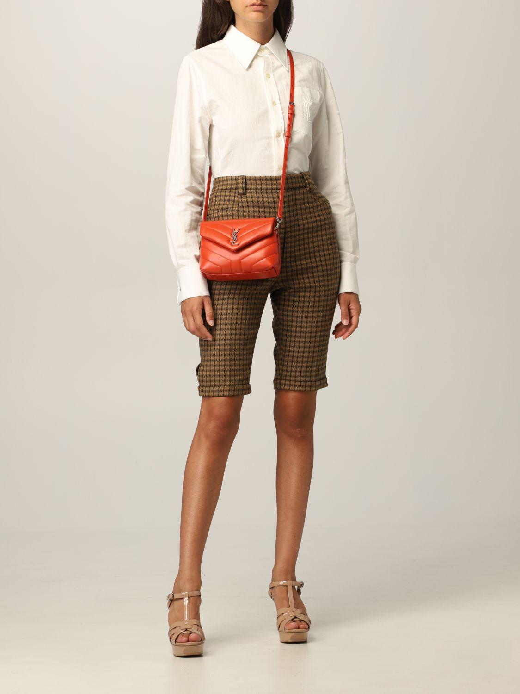 Pantaloncino Saint Laurent: Pantaloncino Saint Laurent in lana cammello 2