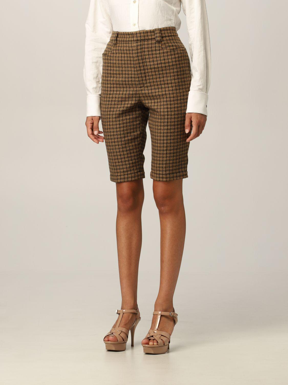 Pantaloncino Saint Laurent: Pantaloncino Saint Laurent in lana cammello 4