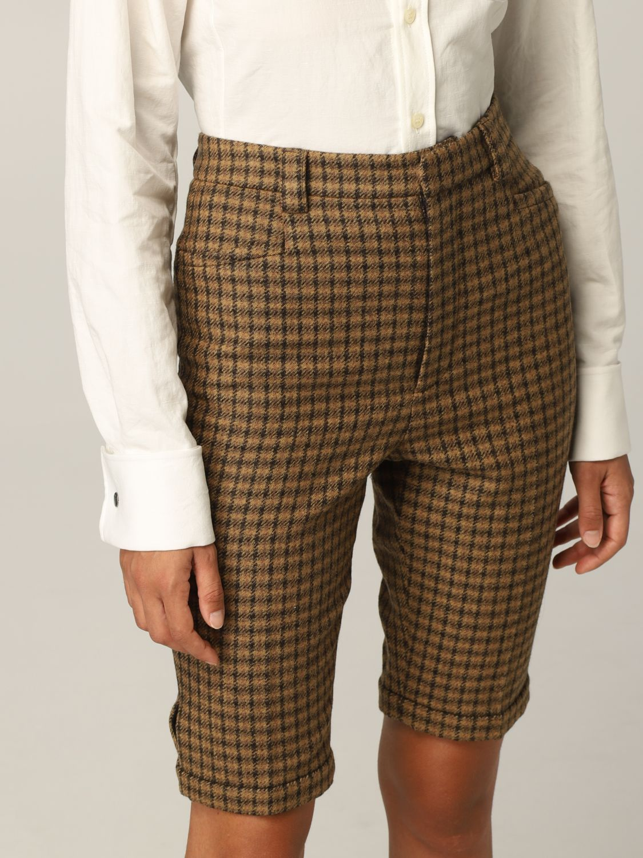 Pantaloncino Saint Laurent: Pantaloncino Saint Laurent in lana cammello 5