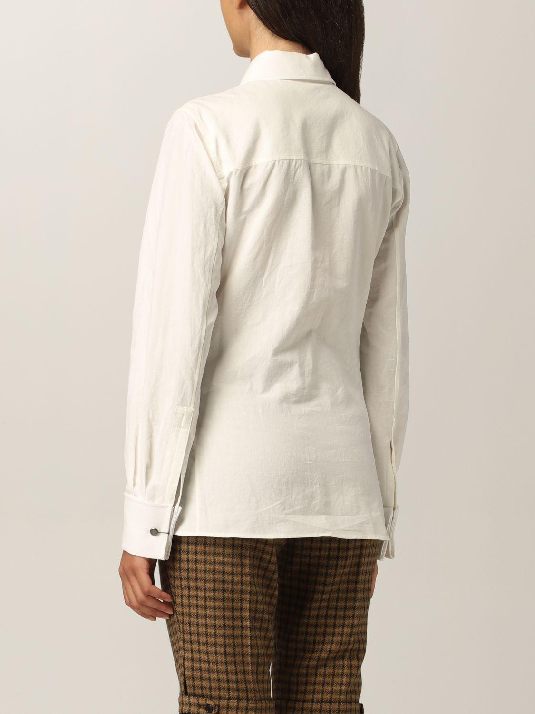 Camicia Saint Laurent: Camicia Saint Laurent in cotone e lino bianco 3