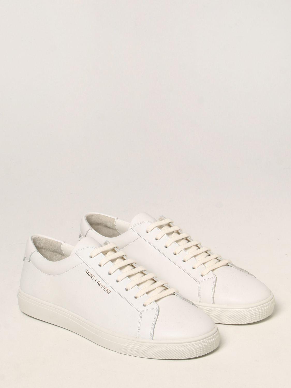 Sneakers Saint Laurent: Sneakers Andy Saint Laurent in pelle bianco 2