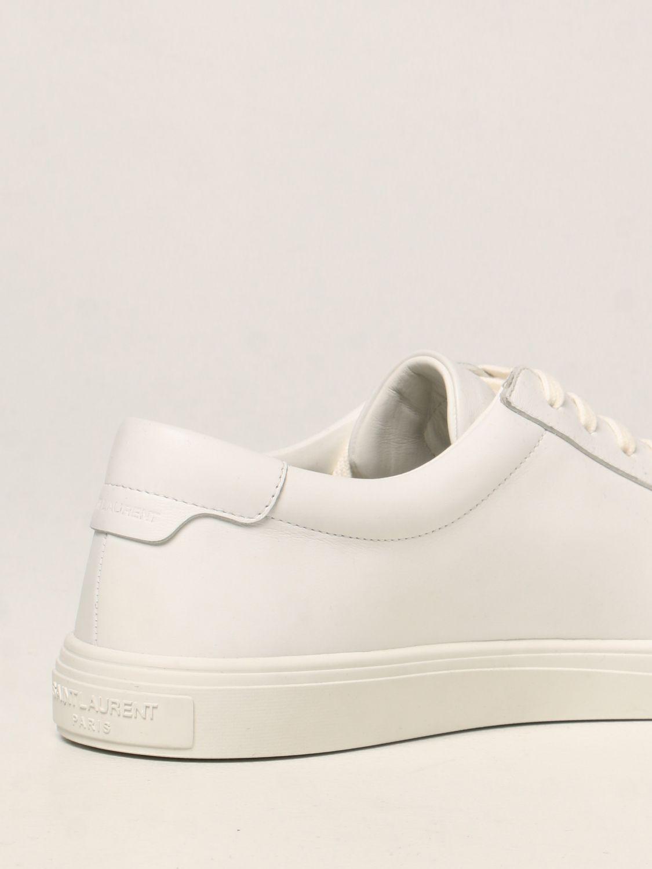 Sneakers Saint Laurent: Sneakers Andy Saint Laurent in pelle bianco 3