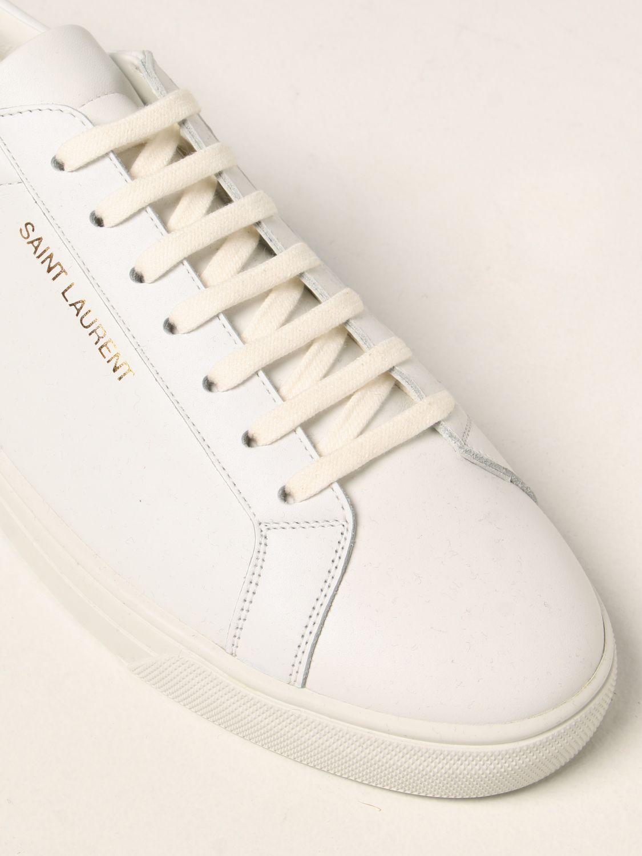 Sneakers Saint Laurent: Sneakers Andy Saint Laurent in pelle bianco 4
