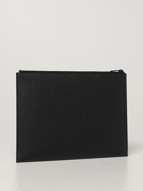 Portadocumenti Saint Laurent: Pochette Saint Laurent in pelle grain de poudre nero 3