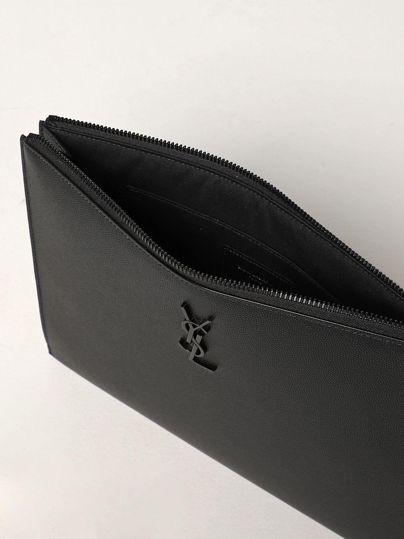 Portadocumenti Saint Laurent: Pochette Saint Laurent in pelle grain de poudre nero 5