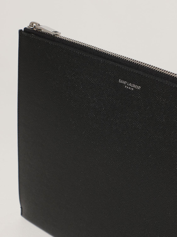 Portadocumenti Saint Laurent: Pochette Saint Laurent in pelle grain de poudre nero 4