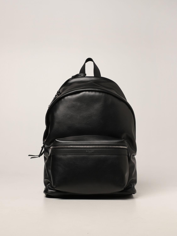 Zaino Saint Laurent: Zaino City Saint Laurent in pelle con logo nero 1