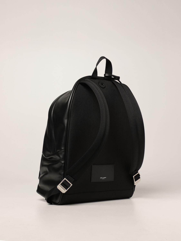 Zaino Saint Laurent: Zaino City Saint Laurent in pelle con logo nero 3