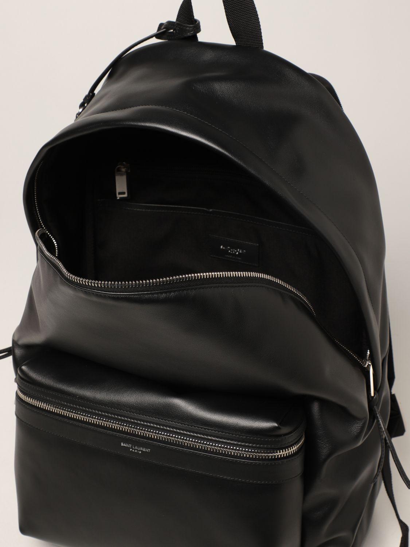 Zaino Saint Laurent: Zaino City Saint Laurent in pelle con logo nero 5