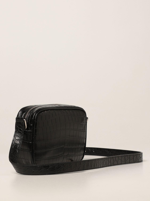 Borsa a tracolla Saint Laurent: Borsa camera bag Camp Saint Laurent in pelle con stampa cocco nero 2