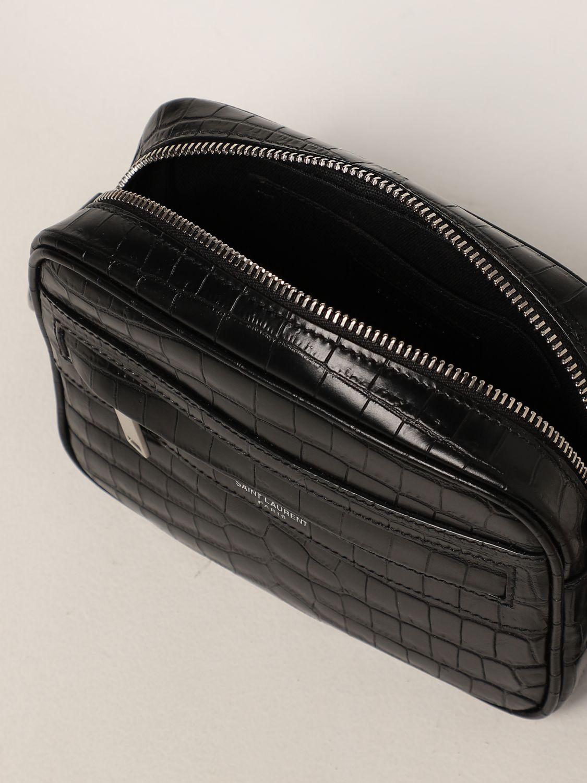 Borsa a tracolla Saint Laurent: Borsa camera bag Camp Saint Laurent in pelle con stampa cocco nero 4