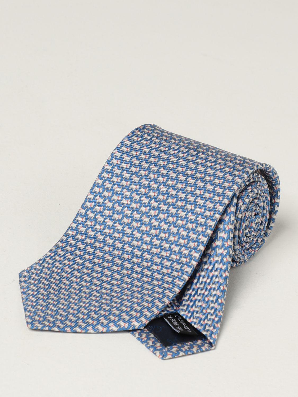 Cravatta Salvatore Ferragamo: Cravatta Salvatore Ferragamo in seta blue 1