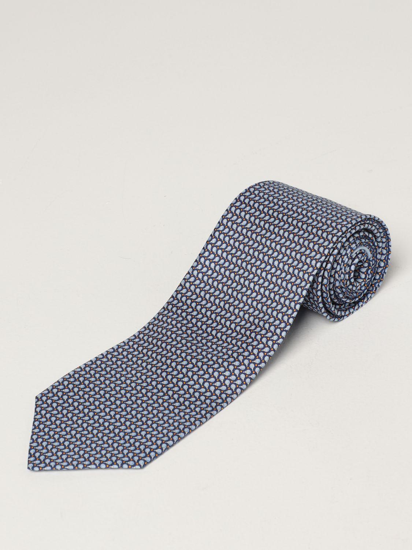 Cravatta Salvatore Ferragamo: Cravatta Salvatore Ferragamo in seta a micro fantasia royal 1