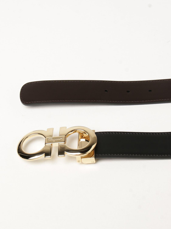 Cintura Salvatore Ferragamo: Cintura Gancini Salvatore Ferragamo reversibile in pelle nero 1 2