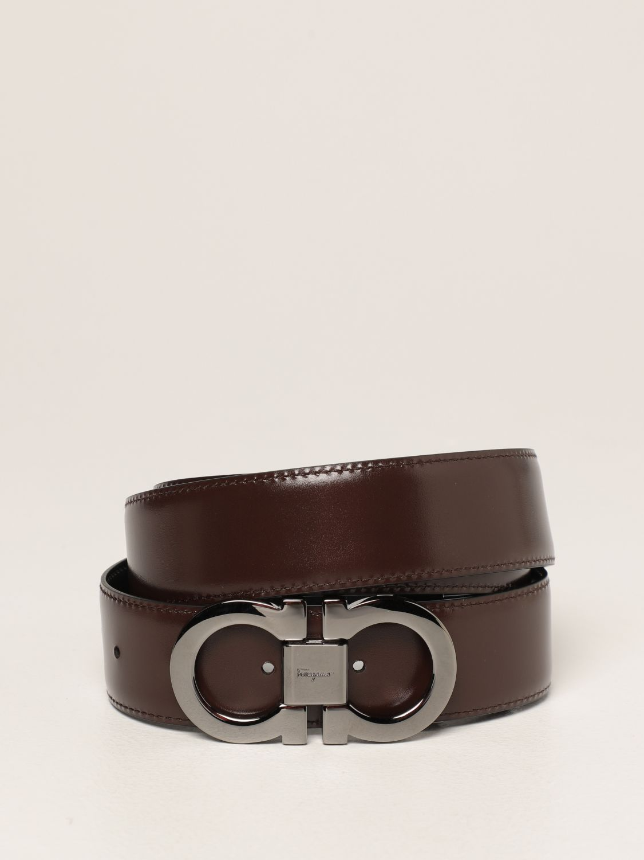 Cintura Salvatore Ferragamo: Cintura Gancini Salvatore Ferragamo reversibile in pelle nero 2