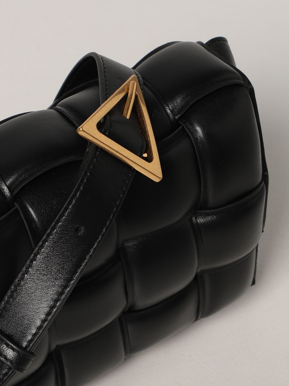 Borse a tracolla Bottega Veneta: Borsa Padded Cassette Bottega Veneta in nappa intrecciata nero 4