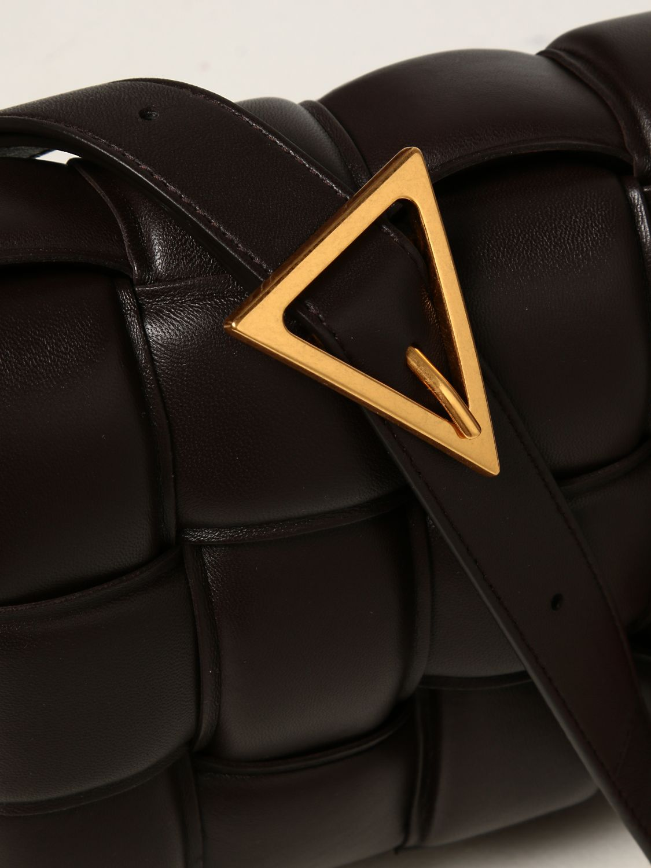 Borse a tracolla Bottega Veneta: Borsa Padded Cassette Bottega Veneta in nappa intrecciata moro 4