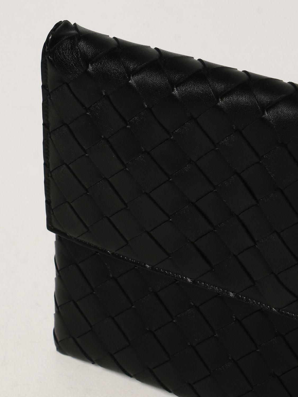 Clutch Bottega Veneta: Borsa Pouch Bottega Veneta in pelle intrecciata nero 4