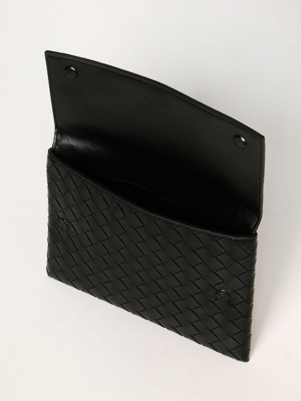 Clutch Bottega Veneta: Borsa Pouch Bottega Veneta in pelle intrecciata nero 5