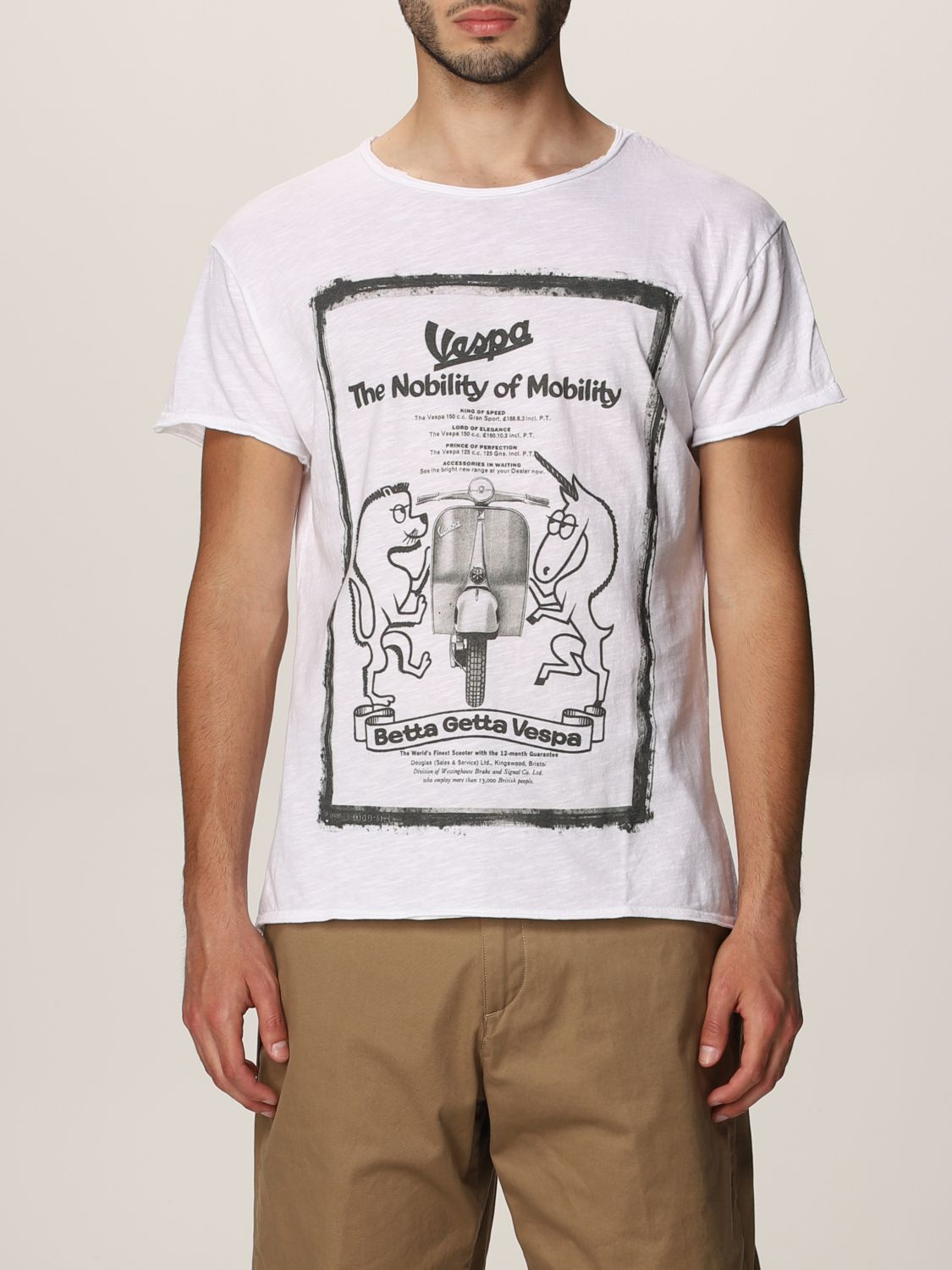 T-shirt 1921: T-shirt 1921 in cotone con stampa bianco 1
