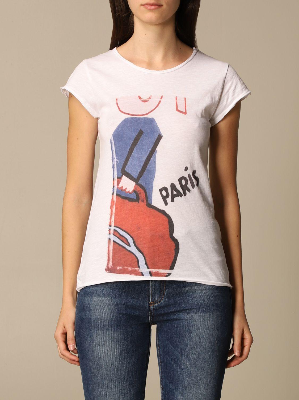 T-Shirt 1921: T-shirt damen 1921 weiß 1