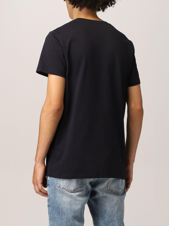 T-shirt Balmain: Balmain cotton t-shirt with logo navy 3