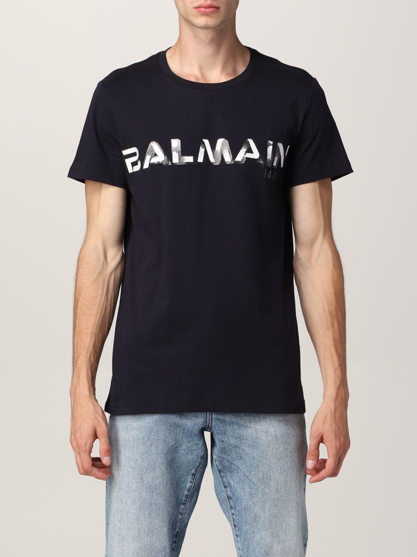T-shirt Balmain: T-shirt Balmain in cotone con logo nero 1