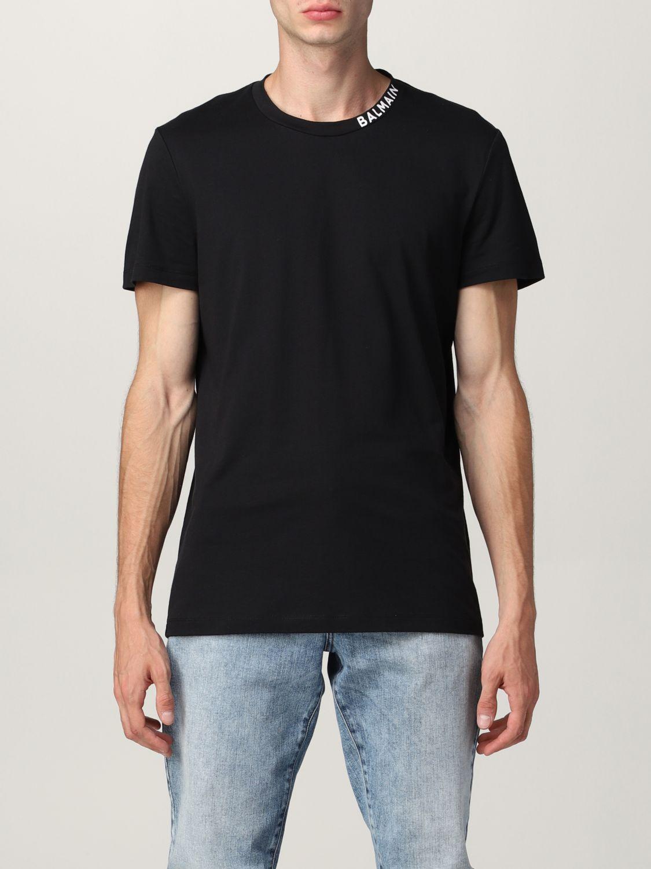 T-shirt Balmain: Balmain cotton t-shirt with logo black 1