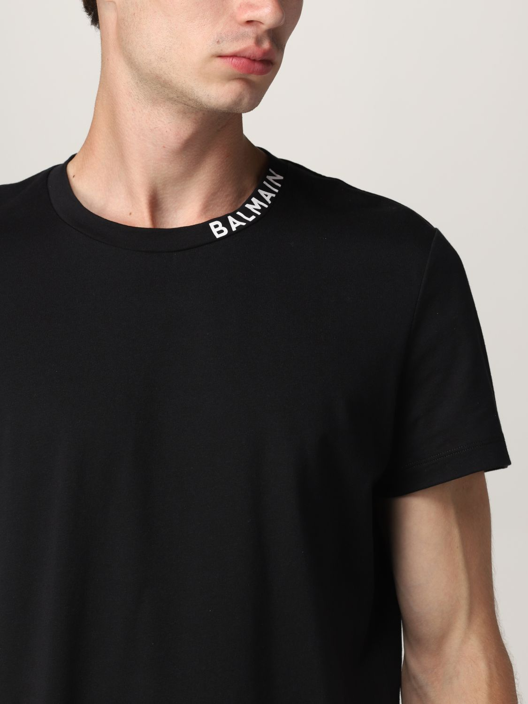T-shirt Balmain: Balmain cotton t-shirt with logo black 4