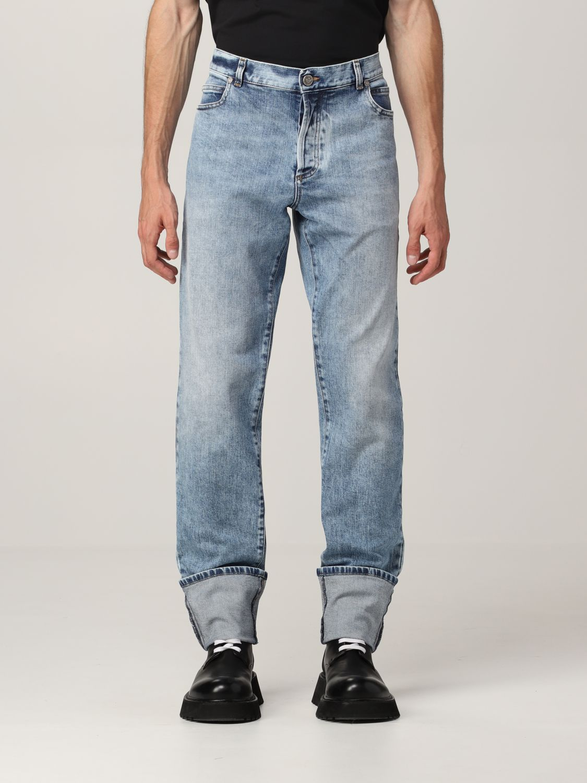 Jeans Balmain: Jeans Balmain a 5 tasche in denim washed denim 1