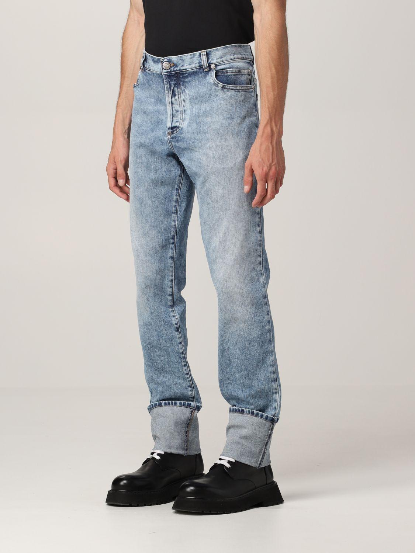 Jeans Balmain: Jeans Balmain a 5 tasche in denim washed denim 4