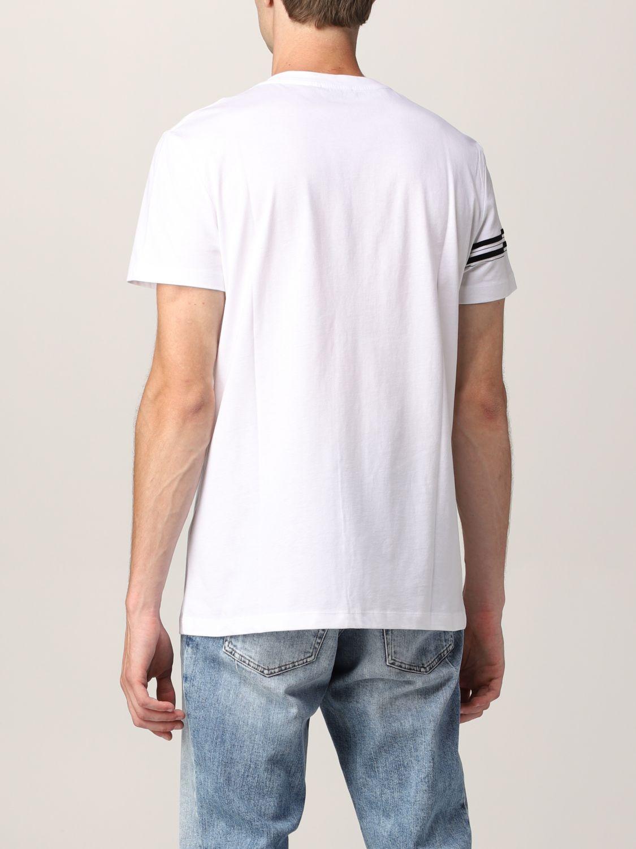 T-shirt Balmain: T-shirt Balmain in cotone con logo in floccato bianco 3