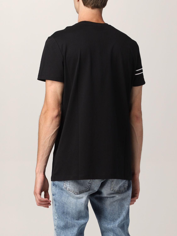 T-shirt Balmain: T-shirt Balmain in cotone con logo in floccato nero 3