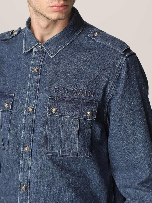 Shirt Balmain: Shirt men Balmain denim 5