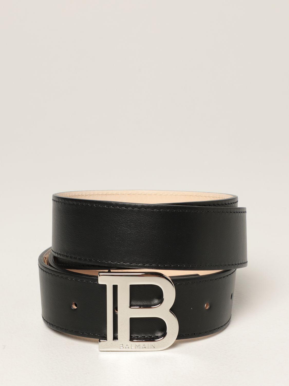 Belt Balmain: Balmain leather belt black 1